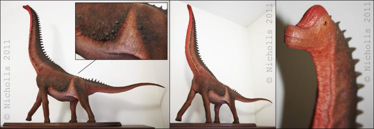Scale model of <i>Giraffatitan brancai</i> (120cm long)