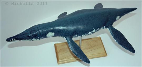 Scale model of <i>Liopleurodon ferox</i> (50cm long)